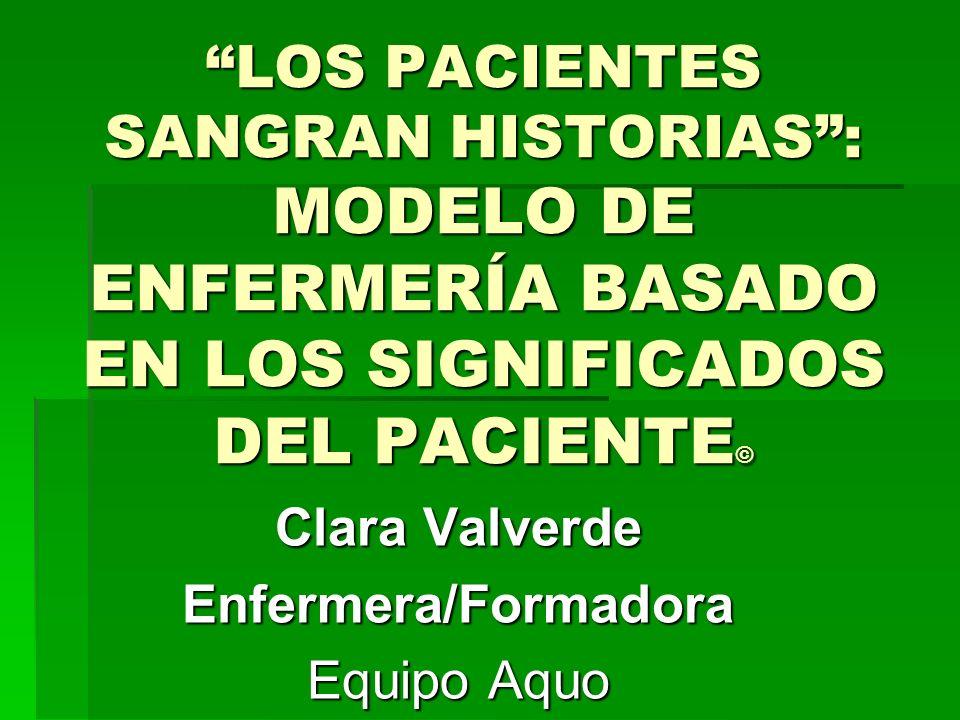 Clara Valverde Enfermera/Formadora Equipo Aquo