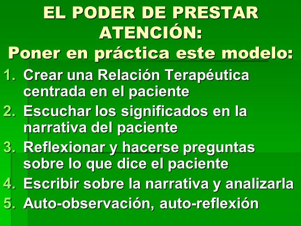 EL PODER DE PRESTAR ATENCIÓN: Poner en práctica este modelo: