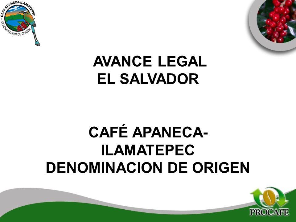 CAFÉ APANECA-ILAMATEPEC DENOMINACION DE ORIGEN