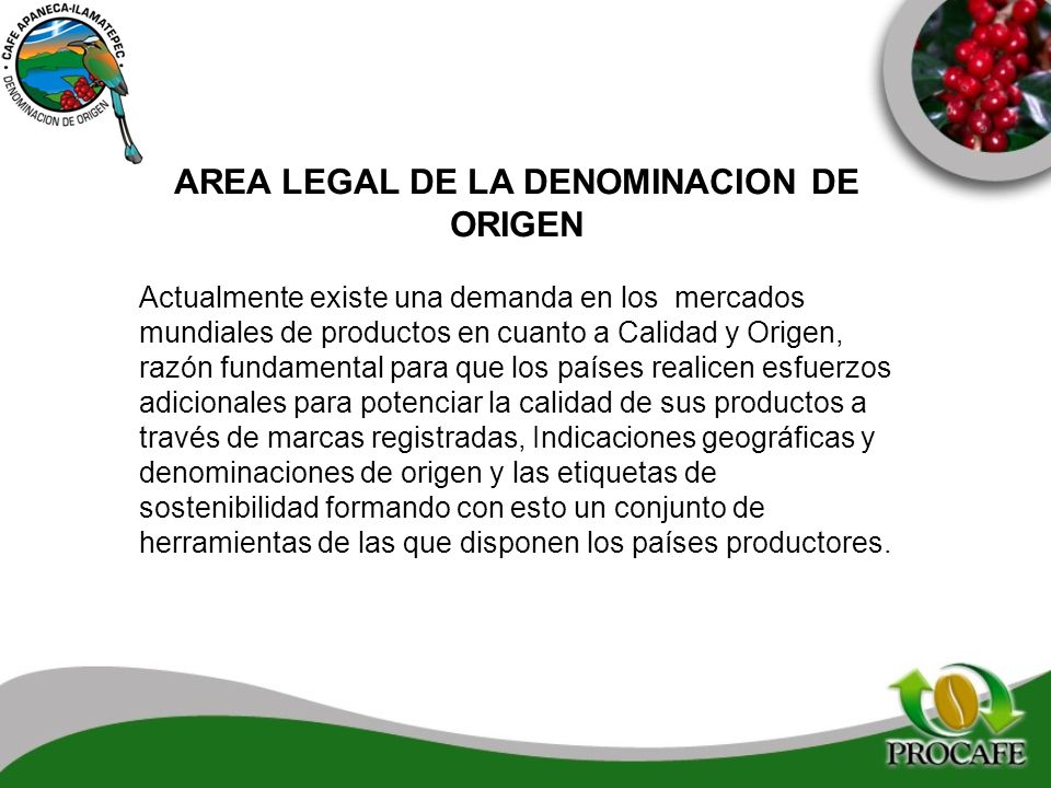 AREA LEGAL DE LA DENOMINACION DE ORIGEN
