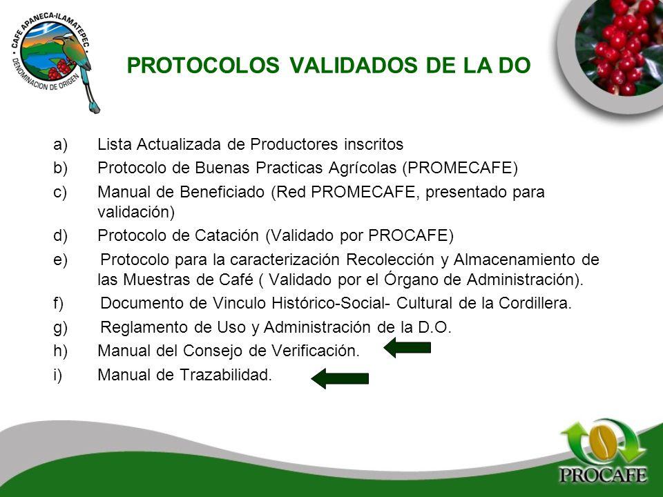 PROTOCOLOS VALIDADOS DE LA DO