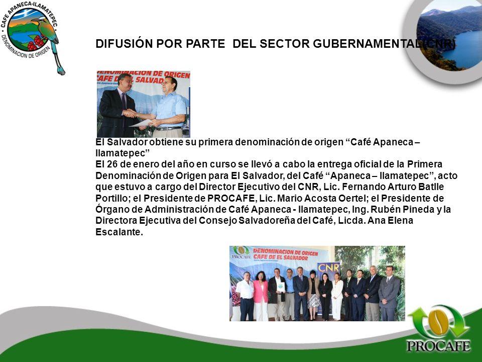DIFUSIÓN POR PARTE DEL SECTOR GUBERNAMENTAL(CNR)