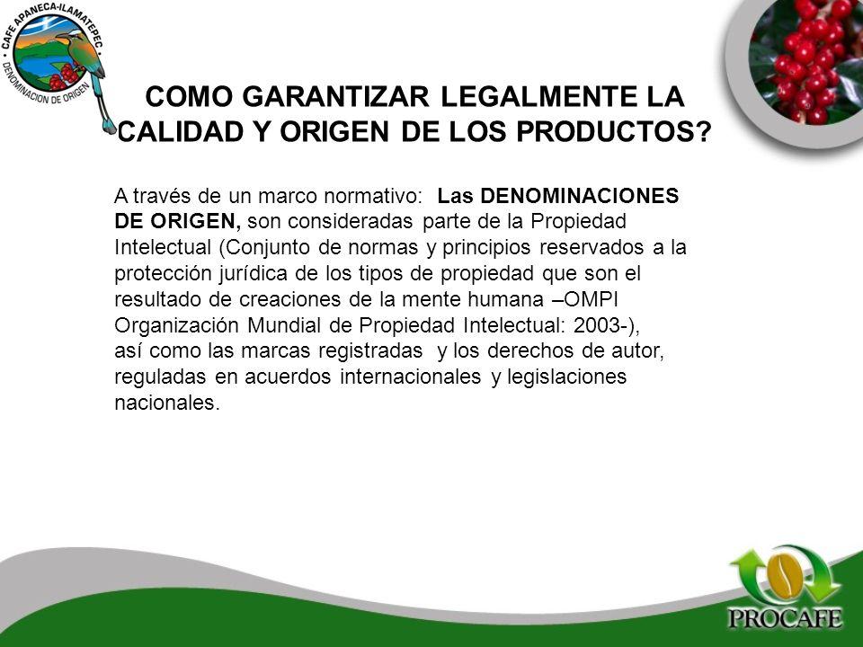 COMO GARANTIZAR LEGALMENTE LA CALIDAD Y ORIGEN DE LOS PRODUCTOS