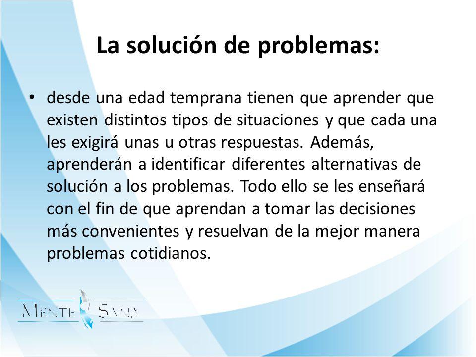 La solución de problemas: