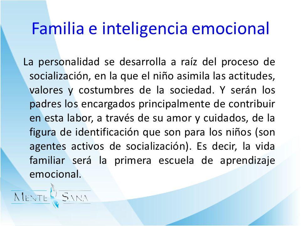 Familia e inteligencia emocional