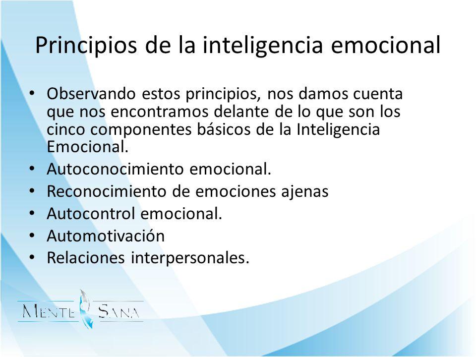 Principios de la inteligencia emocional