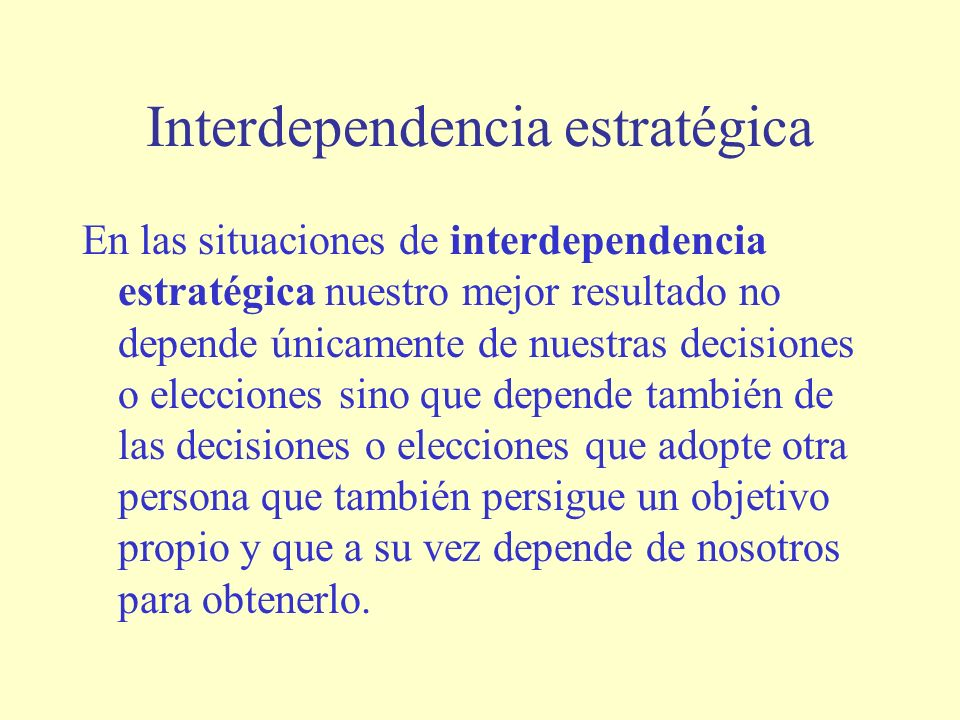 Interdependencia estratégica