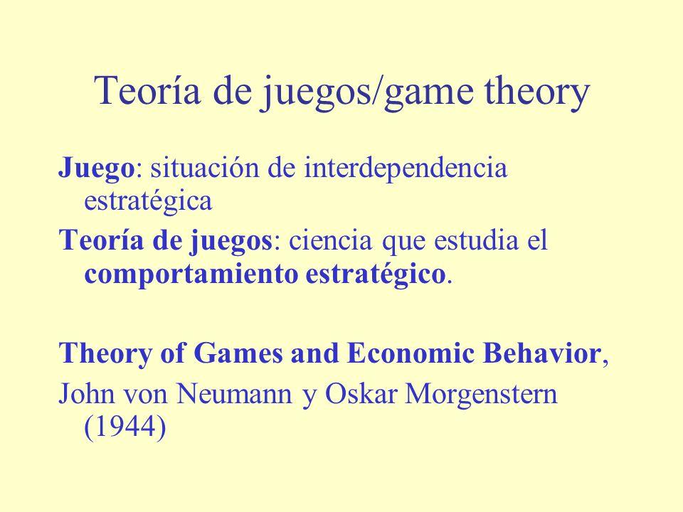 Teoría de juegos/game theory