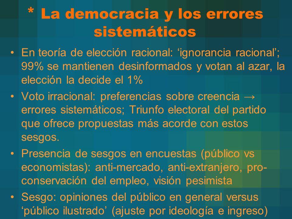 * La democracia y los errores sistemáticos