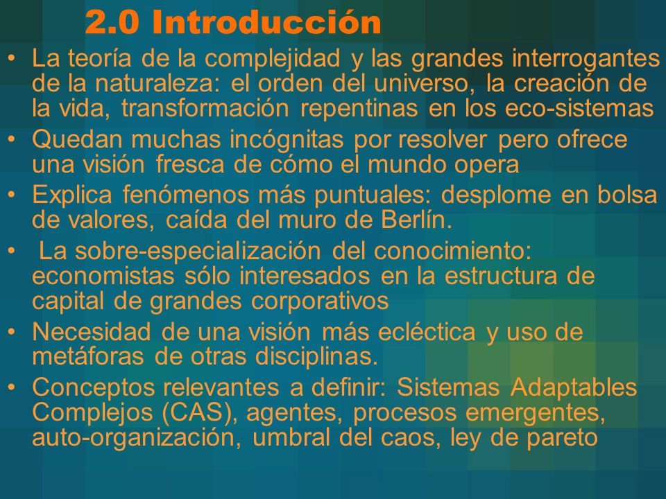 2.0 Introducción