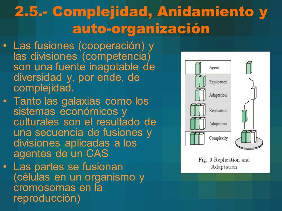 2.5.- Complejidad, Anidamiento y auto-organización