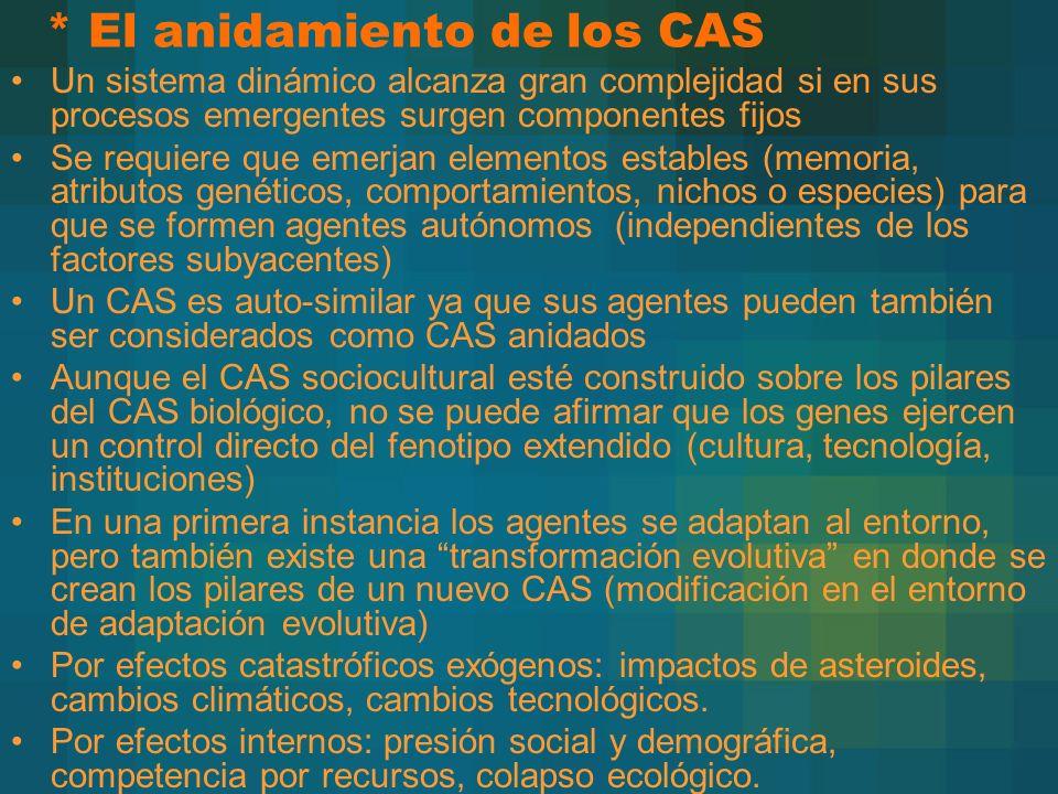 * El anidamiento de los CAS