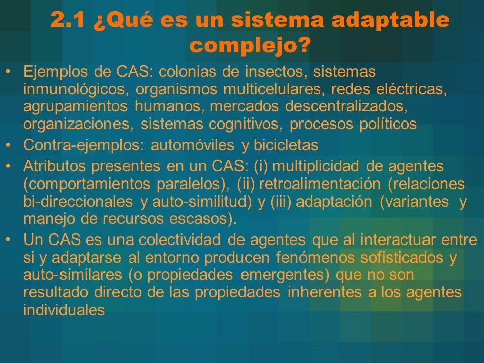 2.1 ¿Qué es un sistema adaptable complejo