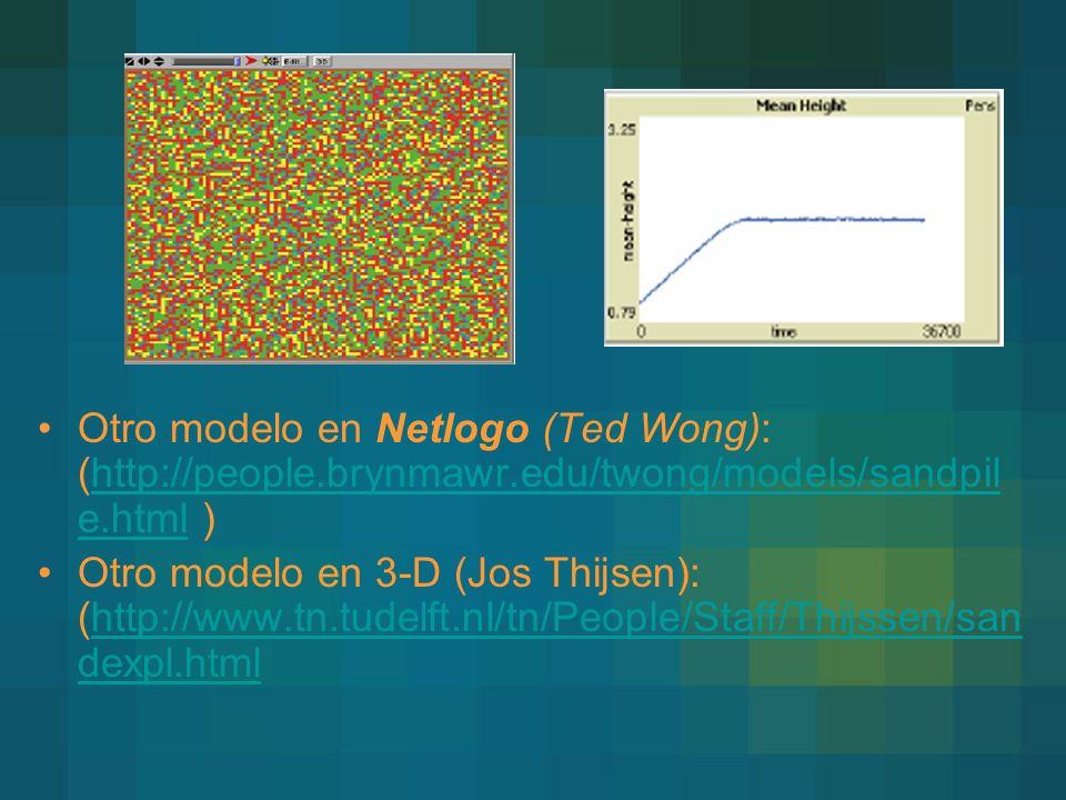 Otro modelo en Netlogo (Ted Wong): (http://people. brynmawr