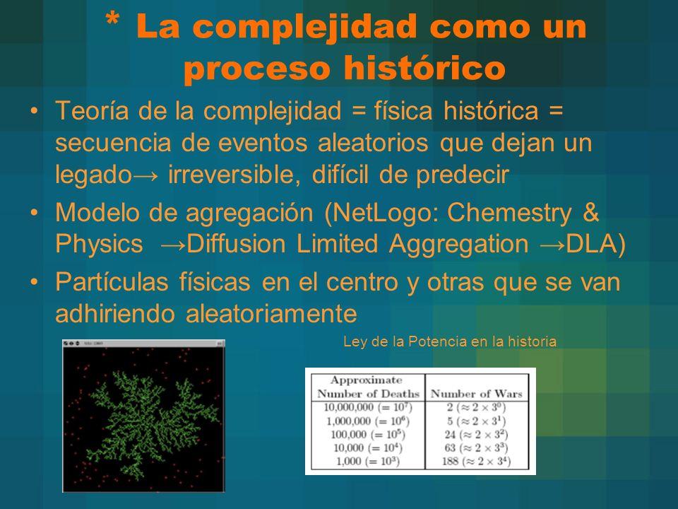 * La complejidad como un proceso histórico