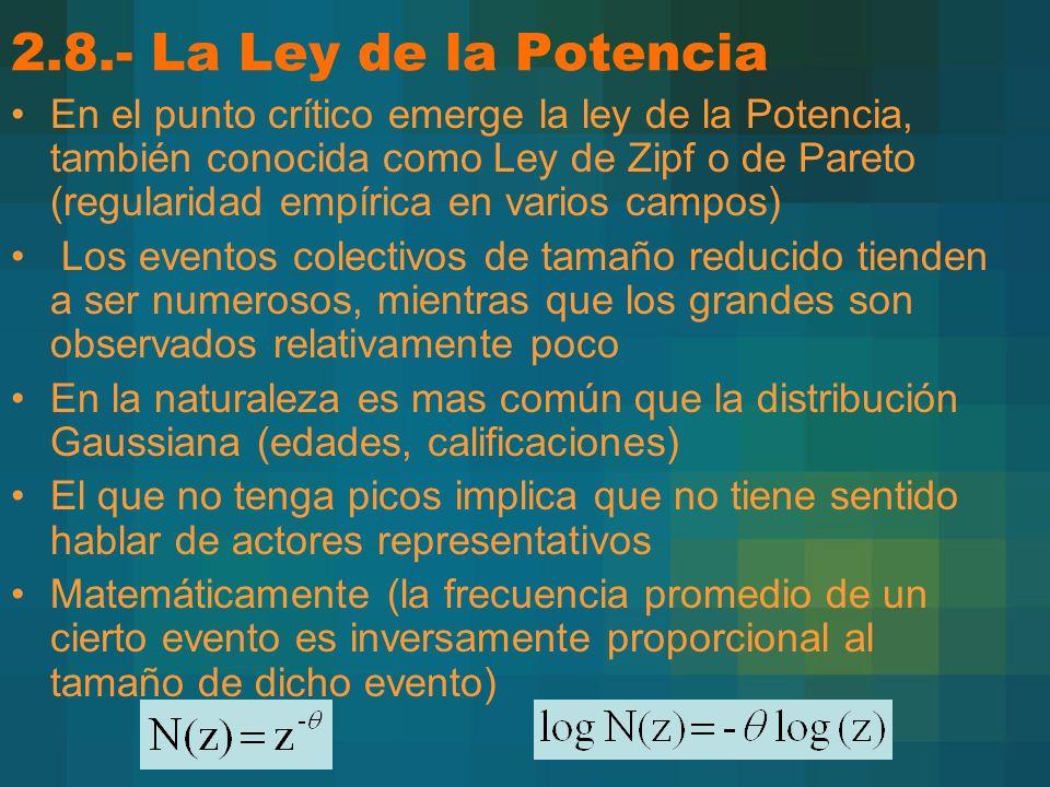 2.8.- La Ley de la Potencia