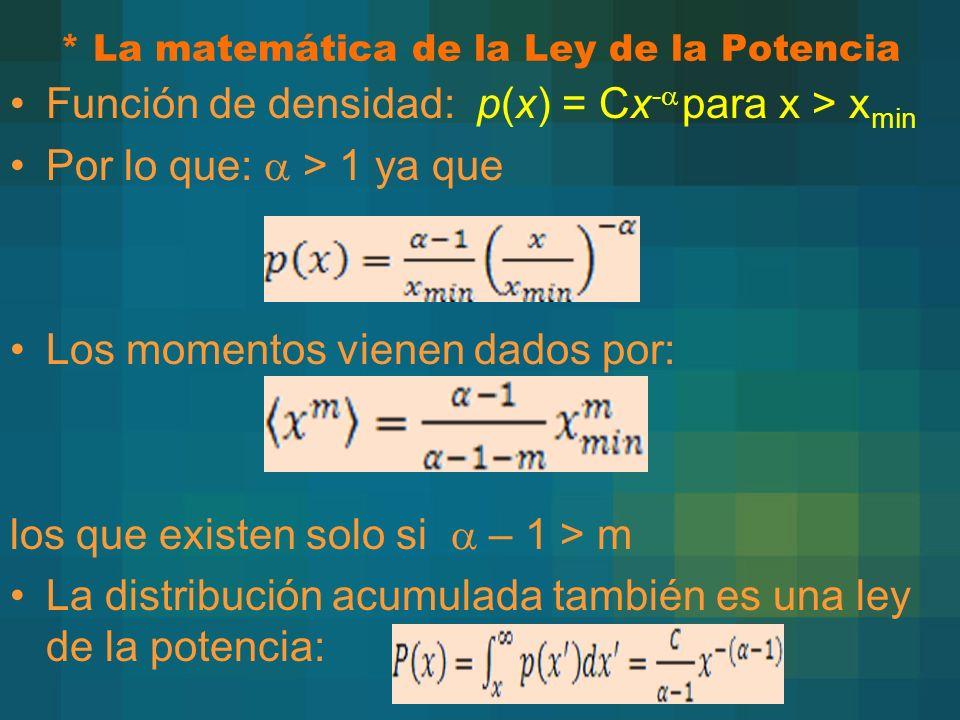 * La matemática de la Ley de la Potencia