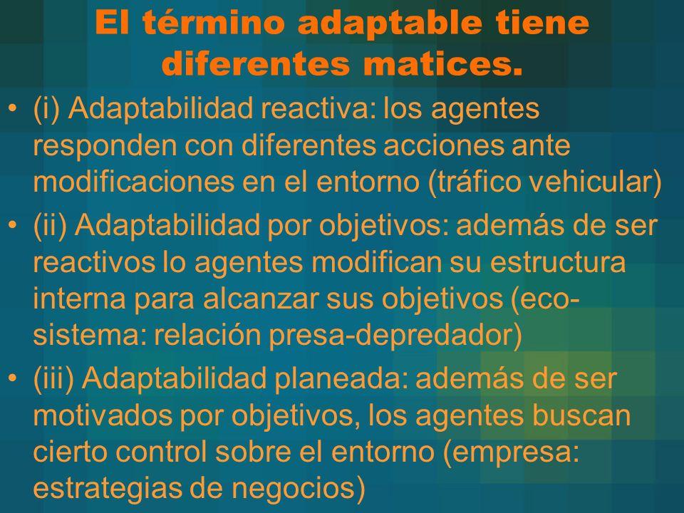 El término adaptable tiene diferentes matices.