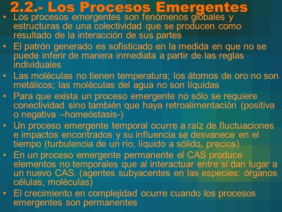 2.2.- Los Procesos Emergentes