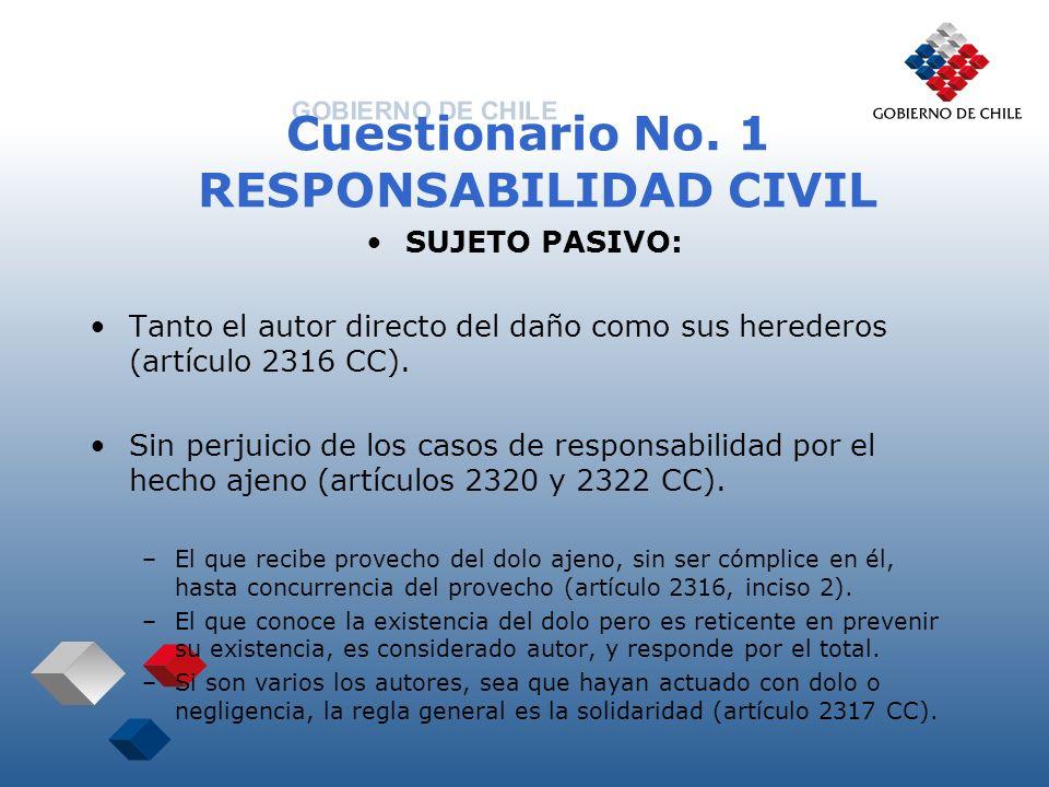 Cuestionario No. 1 RESPONSABILIDAD CIVIL