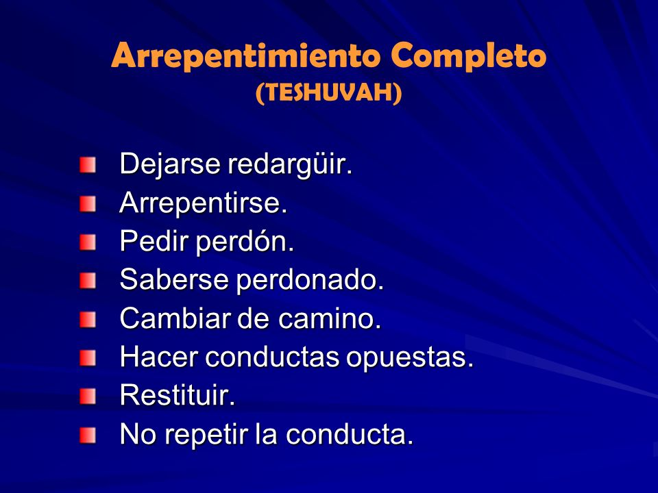 Arrepentimiento Completo (TESHUVAH)