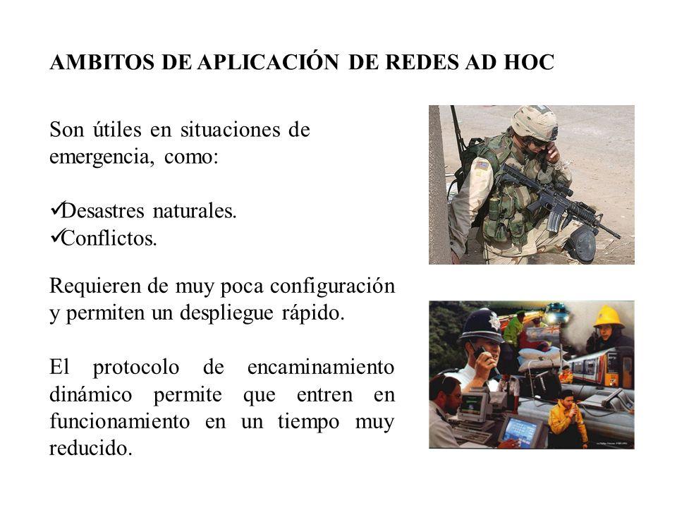 AMBITOS DE APLICACIÓN DE REDES AD HOC