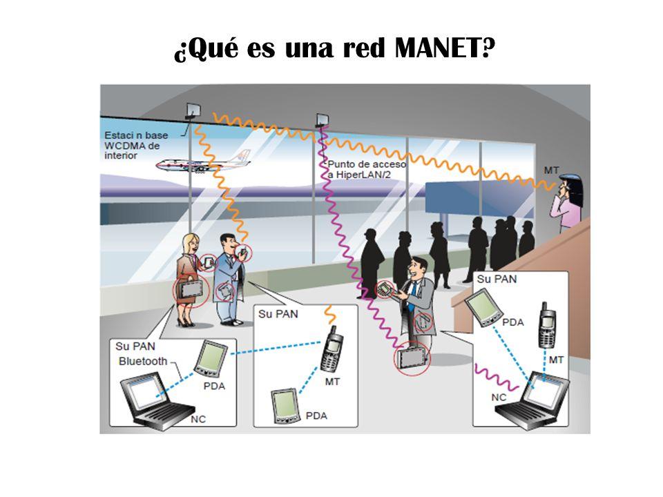¿Qué es una red MANET