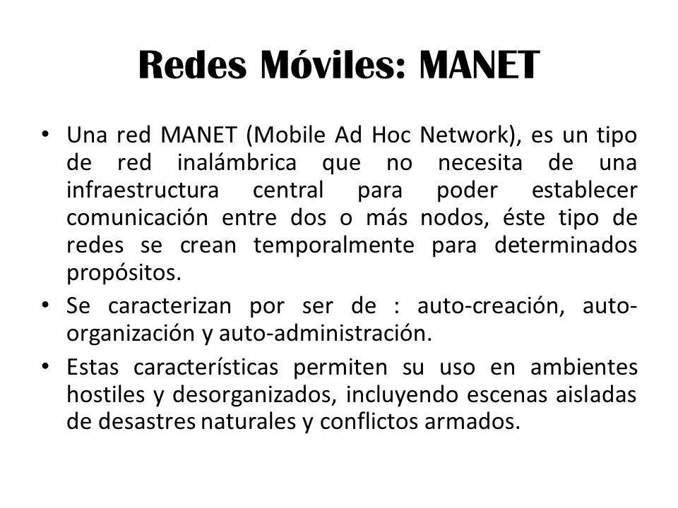 Redes Móviles: MANET