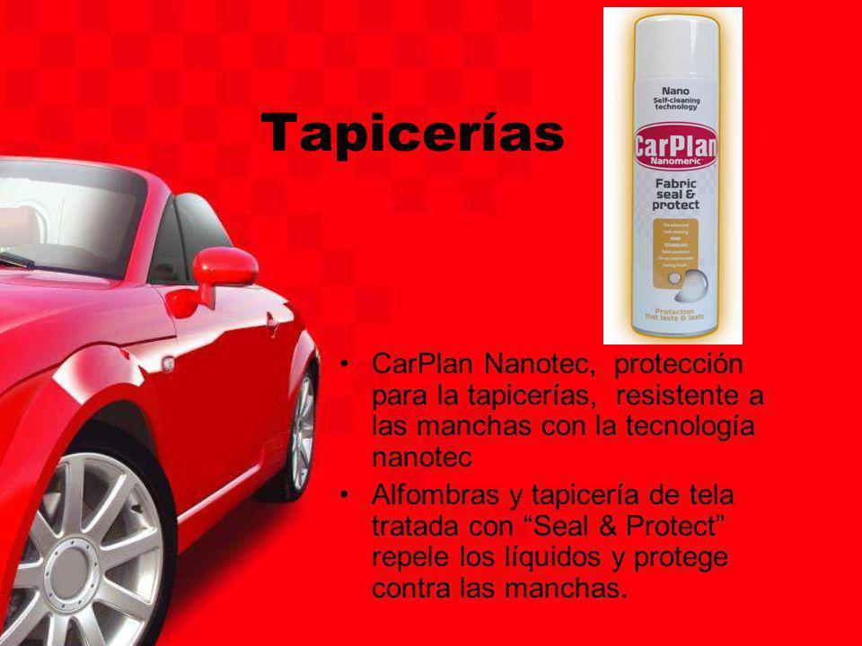 Tapicerías CarPlan Nanotec, protección para la tapicerías, resistente a las manchas con la tecnología nanotec.
