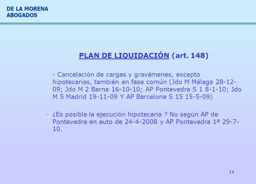 PLAN DE LIQUIDACIÓN (art. 148)
