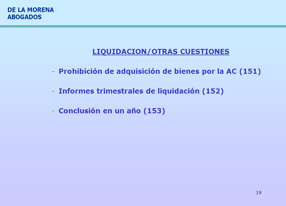 LIQUIDACION/OTRAS CUESTIONES