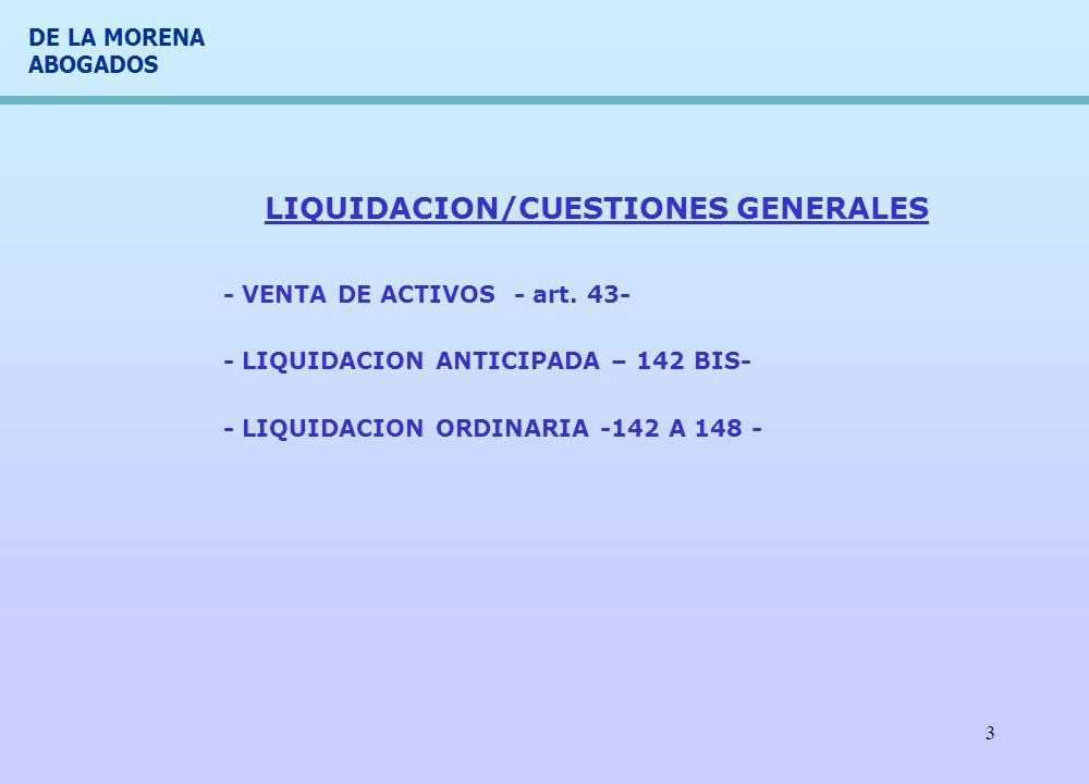 LIQUIDACION/CUESTIONES GENERALES