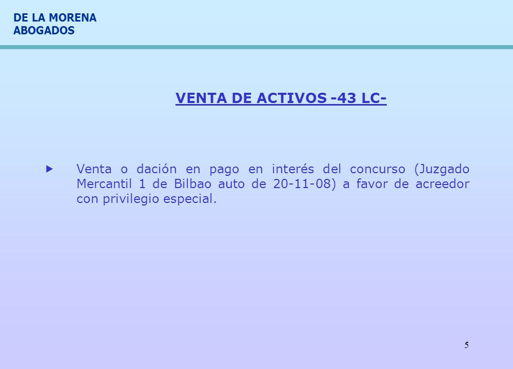VENTA DE ACTIVOS -43 LC-