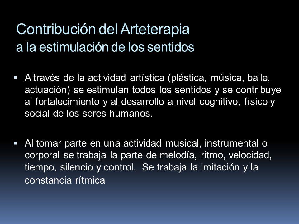 Contribución del Arteterapia a la estimulación de los sentidos