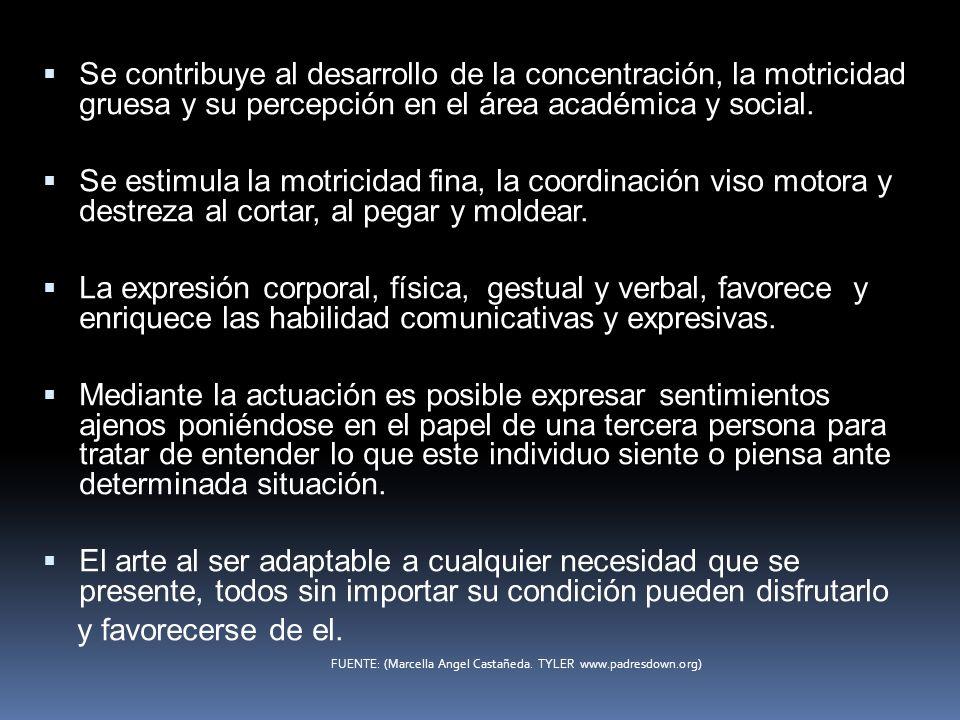 Se contribuye al desarrollo de la concentración, la motricidad gruesa y su percepción en el área académica y social.