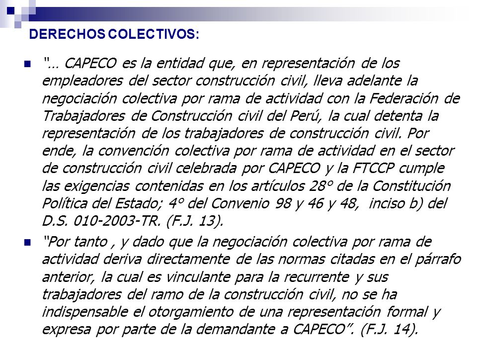 DERECHOS COLECTIVOS: