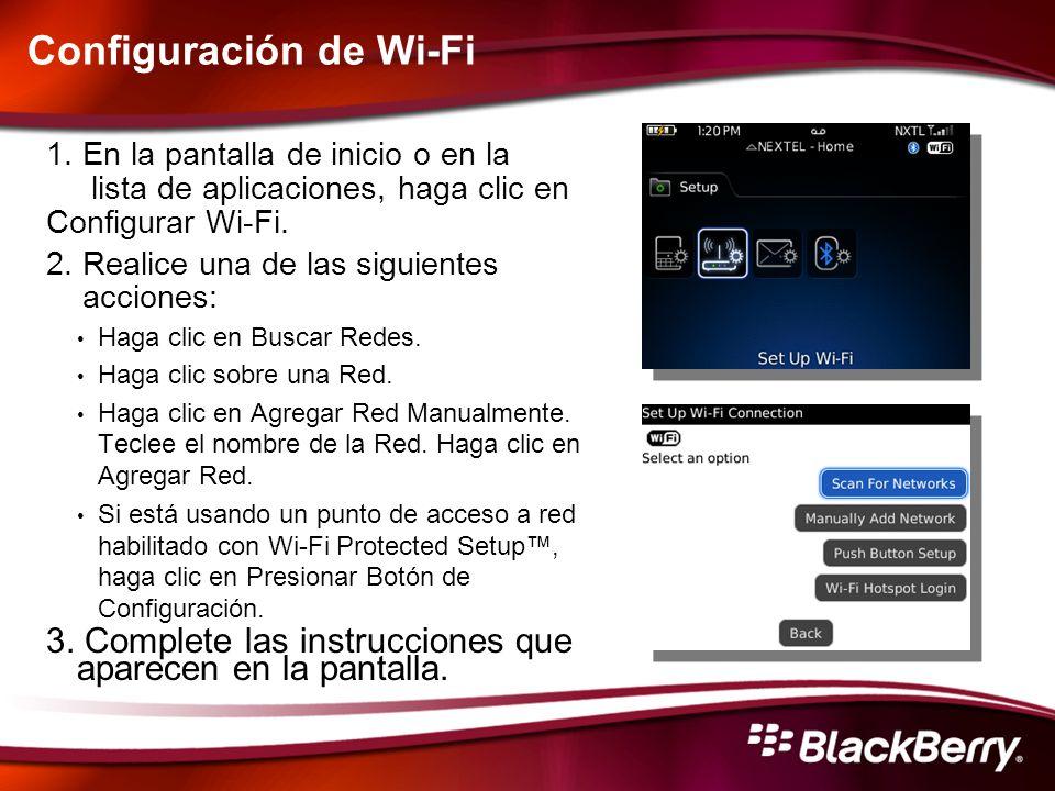 Configuración de Wi-Fi