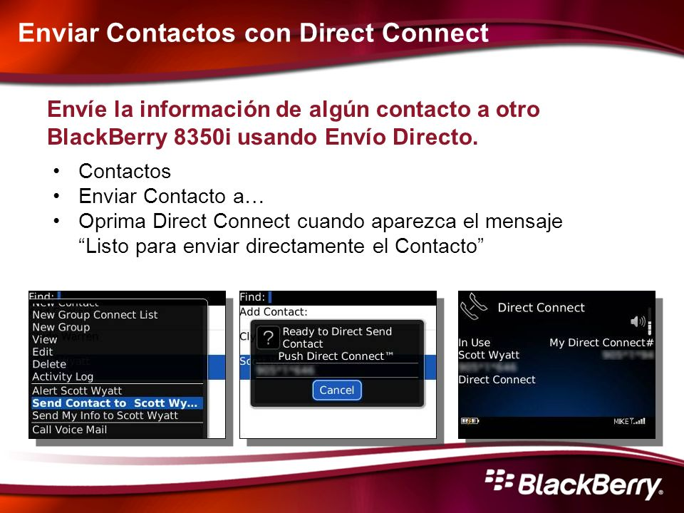 Enviar Contactos con Direct Connect