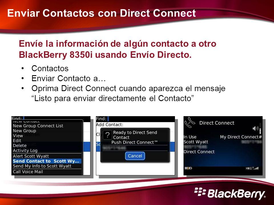 Enviar Contactos con Direct Connect