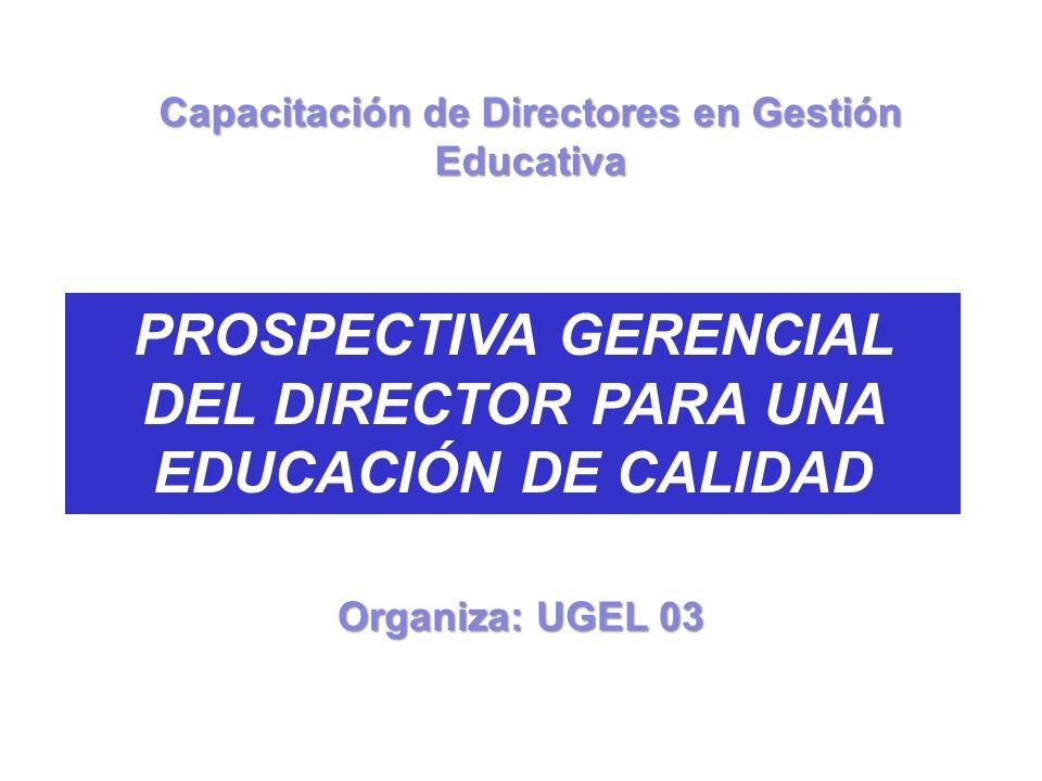 PROSPECTIVA GERENCIAL DEL DIRECTOR PARA UNA EDUCACIÓN DE CALIDAD