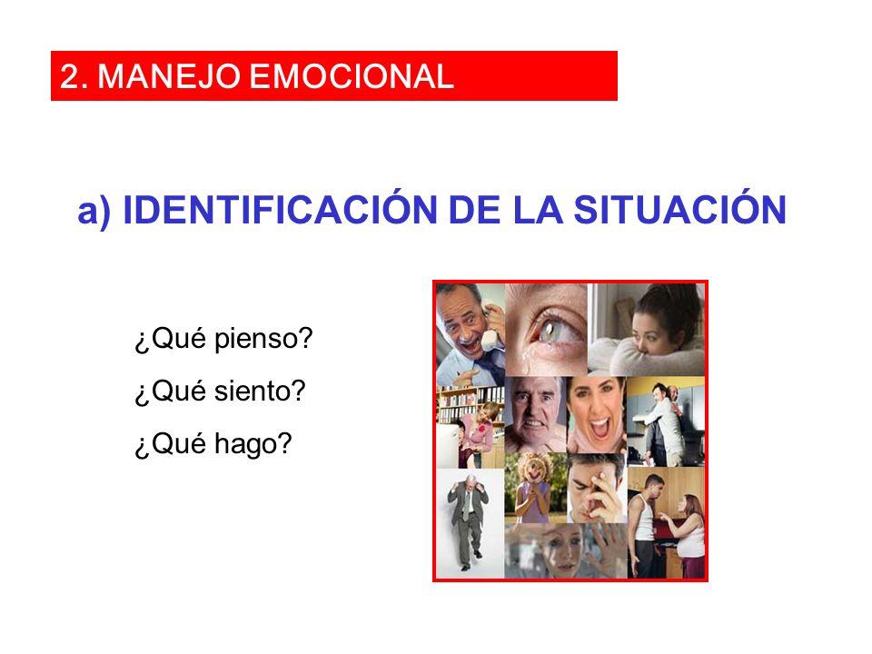 a) IDENTIFICACIÓN DE LA SITUACIÓN