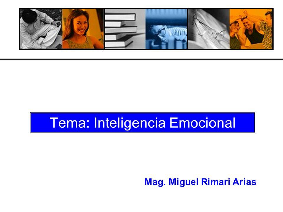 Tema: Inteligencia Emocional