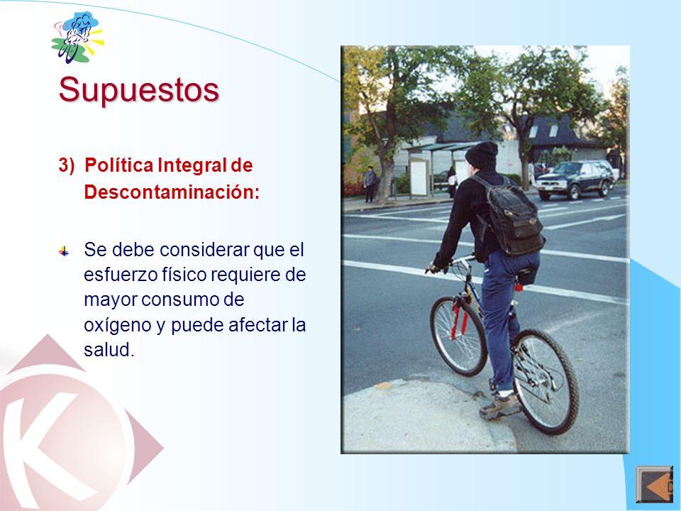Supuestos 3) Política Integral de Descontaminación: