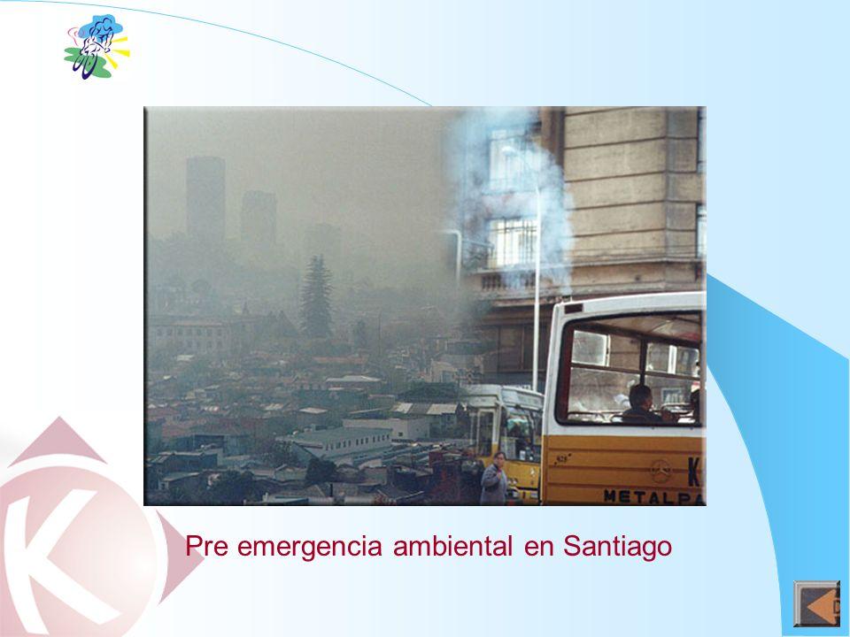 Pre emergencia ambiental en Santiago