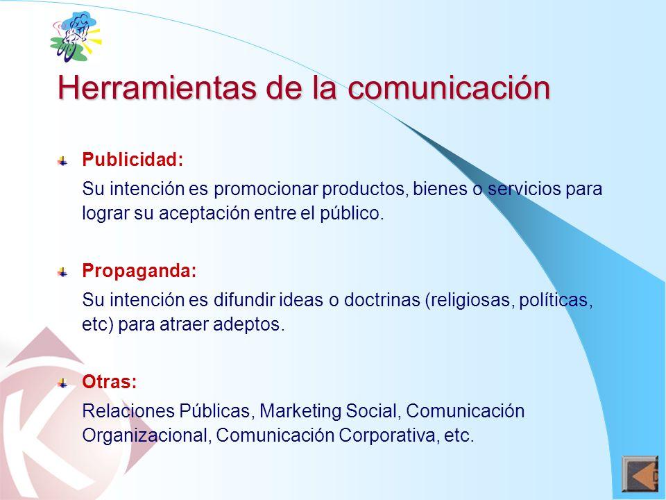 Herramientas de la comunicación