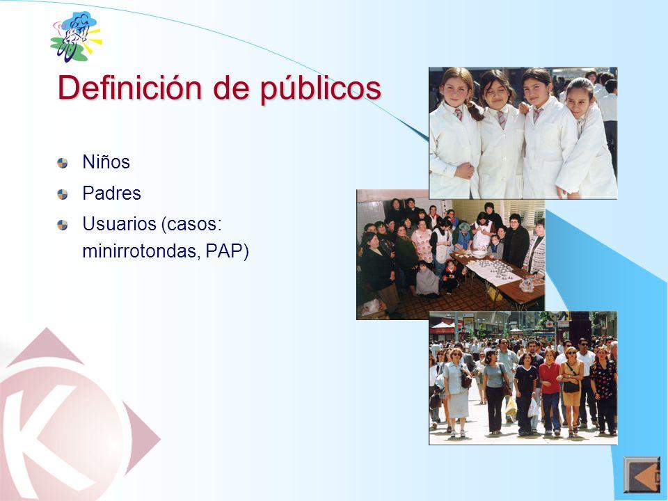 Definición de públicos