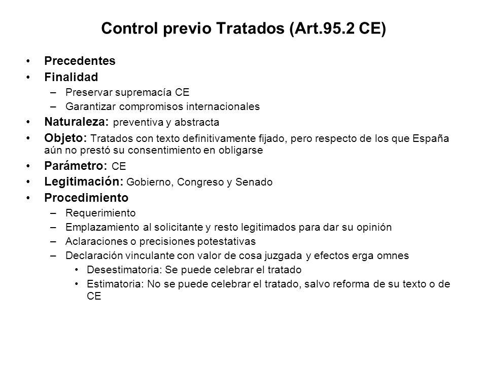 Control previo Tratados (Art.95.2 CE)