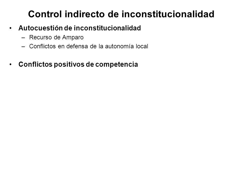 Control indirecto de inconstitucionalidad