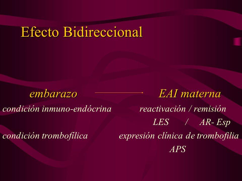 Efecto Bidireccional embarazo EAI materna