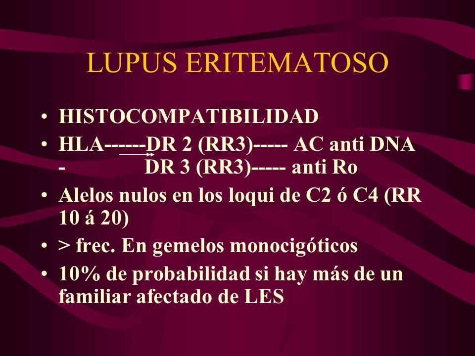 LUPUS ERITEMATOSO HISTOCOMPATIBILIDAD